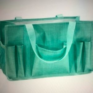 NWOT THIRTY-ONE Turquoise Cross Pop Keep It Caddy